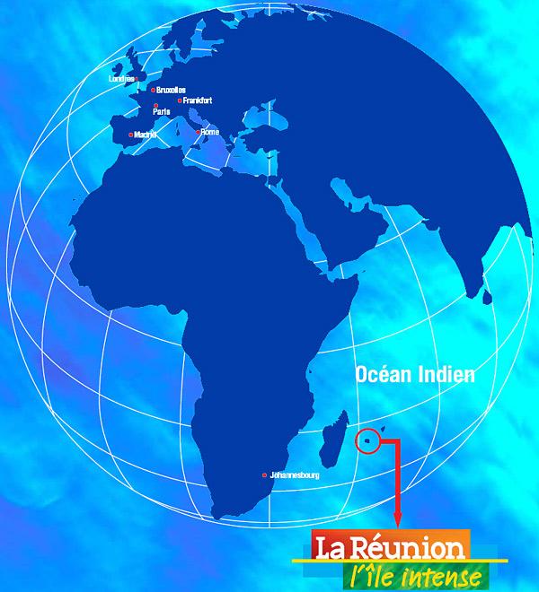 Beliebt La réunion carte du monde - L'ile de la réunion BL39